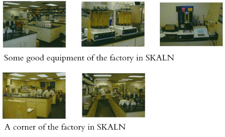 Some good equipment of the factory in SKALN